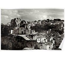 Rock-hewn Church, Madonna delle Virtù, Matera, Basilicata, Italy Poster