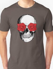 Skull & Roses - Grey & Red T-Shirt