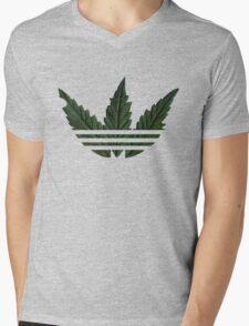 Marihuana logo Mens V-Neck T-Shirt