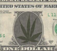 Marihuana dollar Sticker