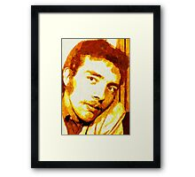 PORTRAIT OF THE ARTIST AS A YOUNG DUDE. Framed Print
