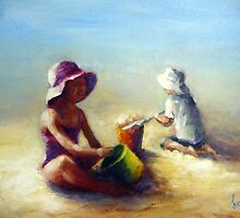 At the beach by Ivana Pinaffo
