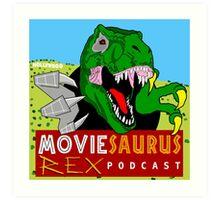 The Moviesaurus Rex Podcast Cover Art Art Print