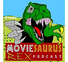 The Moviesaurus Rex Podcast Cover Art Photographic Print