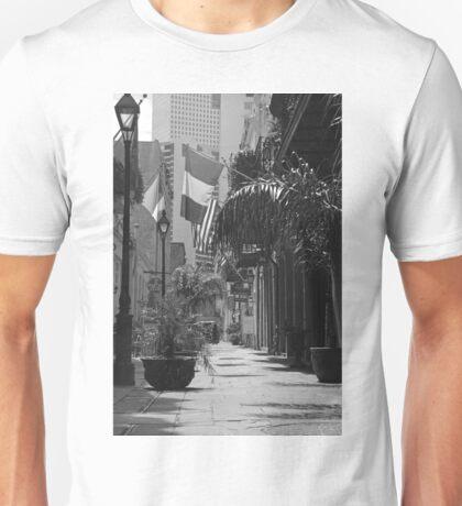 walkway in black and white Unisex T-Shirt