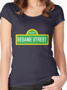 Occupy Sesame street Women's Fitted Scoop T-Shirt