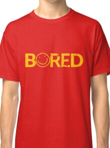 Sherlock Bored Smiley Print Classic T-Shirt