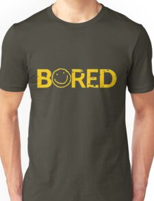 Sherlock Bored Smiley Print Unisex T-Shirt