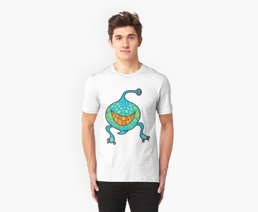 Mr. Blob Cartoon Monster T-Shirt by fatfatin