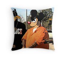 Mickey in a Hustler detention Street Art Throw Pillow