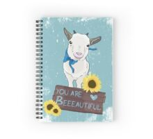 Supportive Goat Spiral Notebook