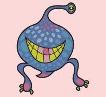 Mrs. Blob Cartoon Blue Monster Baby Tee