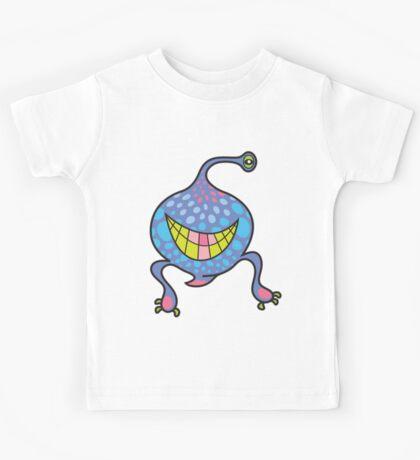 Mrs. Blob Cartoon Blue Monster Kids Tee