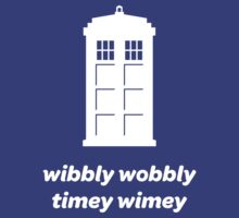 Wibbly Wobbly Timey Wimey Shirt (Dark Colors) by MikeZuniga
