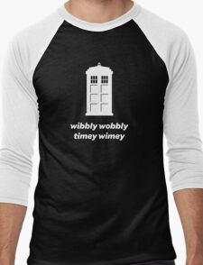 Wibbly Wobbly Timey Wimey Shirt (Dark Colors) Men's Baseball ¾ T-Shirt