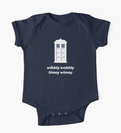 Wibbly Wobbly Timey Wimey Shirt (Dark Colors) One Piece - Short Sleeve