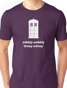 Wibbly Wobbly Timey Wimey Shirt (Dark Colors) Unisex T-Shirt