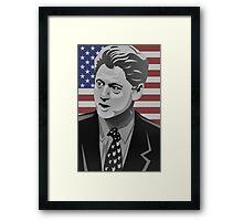 Bill Clinton Vintage Framed Print