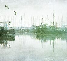 Misty Morning on the Boat Harbour by Margi