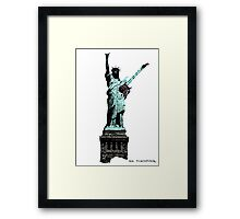 Miss Liberty Rocks Street Art Framed Print