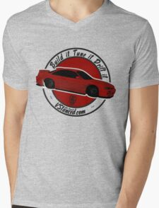 Build it. Tune it. Drift it. Mens V-Neck T-Shirt
