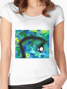 The Creatures From The Drain painting 42 Women's Fitted Scoop T-Shirt