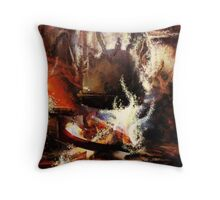 Halloween tea Throw Pillow
