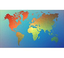 Poly Map Photographic Print