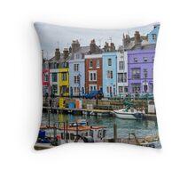 Weymouth Harbour, Dorset, UK Throw Pillow