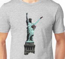 Miss Liberty Rocks Street Art Unisex T-Shirt