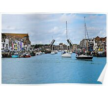 The drawbridge at Weymouth harbour, Dorset, UK Poster