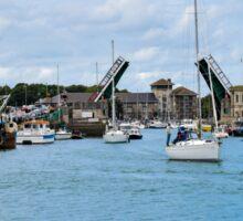 The drawbridge at Weymouth harbour, Dorset, UK Sticker