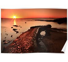 Cullercoats Sunrise Poster