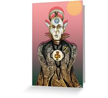 High Priest of Punk Cartoon Greeting Card