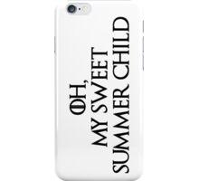 Summer Child-GOT-Black iPhone Case/Skin