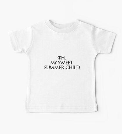 Summer Child-GOT-Black Baby Tee