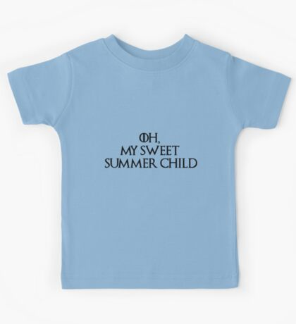 Summer Child-GOT-Black Kids Tee