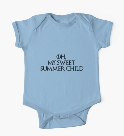 Summer Child-GOT-Black One Piece - Short Sleeve