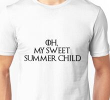 Summer Child-GOT-Black Unisex T-Shirt