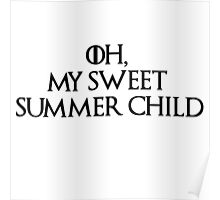 Summer Child-GOT-Black Poster