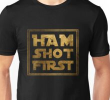 Ham Shot First - Gold Unisex T-Shirt