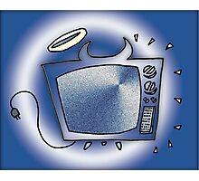 Happy Tv Photographic Print