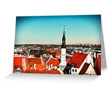 Old Town of Tallinn Greeting Card