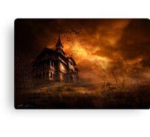 Forbidden mansion Canvas Print
