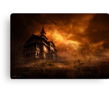 Forbidden mansion Canvas Print