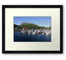 Whittier Harbor Framed Print