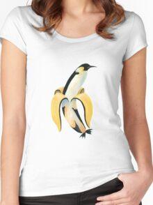 PINGUNANA Women's Fitted Scoop T-Shirt