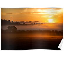 Cotswold Sunrise, England Poster