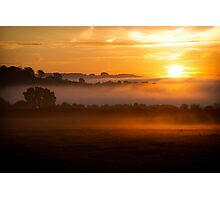 Cotswold Sunrise, England Photographic Print