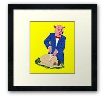 It's a Pig-Eat-Man World Framed Print